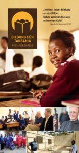 Bildung für Tansania Flyer